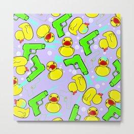 Rubber Duckies and Waterguns Metal Print