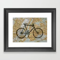 Bike Ride in New York City Framed Art Print