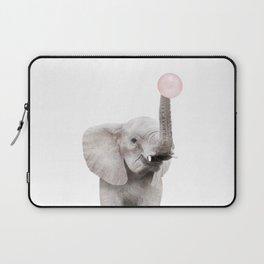 Bubble Gum Baby Elephant Laptop Sleeve