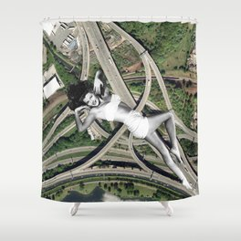 Spaghetti Junction Shower Curtain