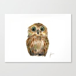 watercolor painting owl Canvas Print