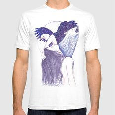 Wings Of An Eagle Mens Fitted Tee White MEDIUM