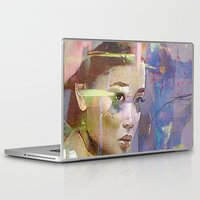 japanese Laptop & iPad Skins featuring Izanami goddess Japanese by Ganech joe