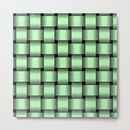 Large Light Green Weave Metal Print