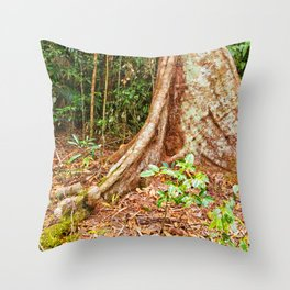 A firm grip on mother earth Throw Pillow