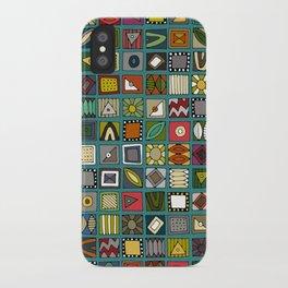 el geo teal iPhone Case