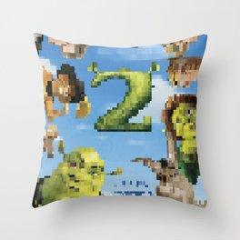 Shrek 2 tshirt Throw Pillow