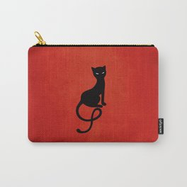 Red Gracious Evil Black Cat Carry-All Pouch
