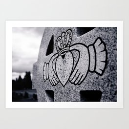 Claddagh closeup Art Print
