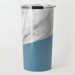 Marble and Niagara Color Travel Mug