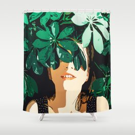 Blinded By Leaves #painting #nature Shower Curtain