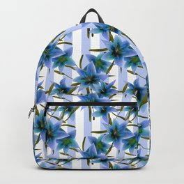 Blue lilies . Backpack