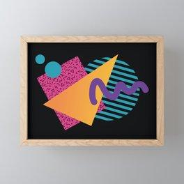 Memphis Pattern 29 / 80s - 90s Retro Framed Mini Art Print