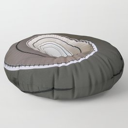Spiral staircase in brown and beige tones Floor Pillow