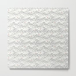 Wavy Musical Pattern Metal Print