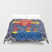bull Duvet Covers featuring Bull by Dusty Goods