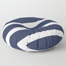 Navy Summer Stripes Floor Pillow