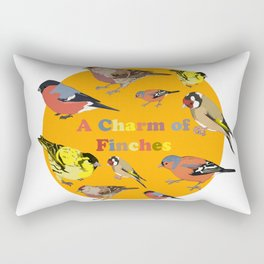 Charm of Finches Rectangular Pillow