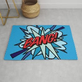 Comic Book Pop Art BANG! Rug