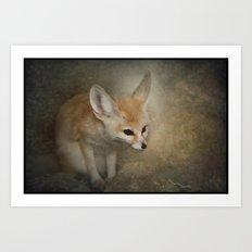 Little Fennec Fox Art Print