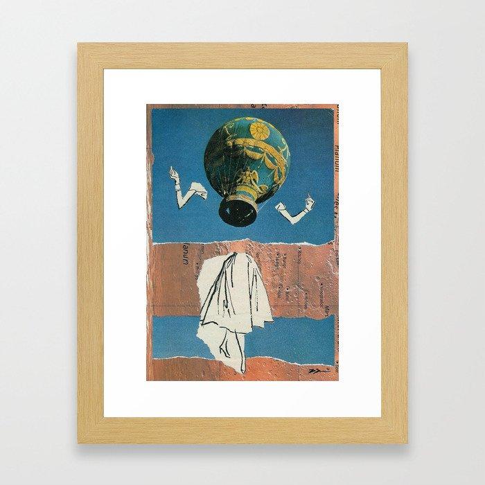Deep Blue Baby Framed Art Print