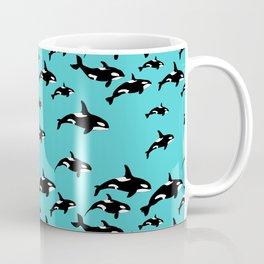 Orca Whales Marine Wildlife Paattern Coffee Mug