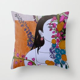 the Audacity to be Brave Throw Pillow