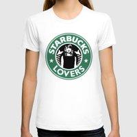 starbucks T-shirts featuring Starbucks Lovers by Renata Bernardes