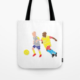 Abstract Soccer player Tote Bag
