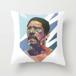 Angry Trejo Throw Pillow