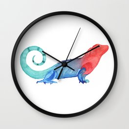 Les Animaux: Curly Tailed Lizard Wall Clock