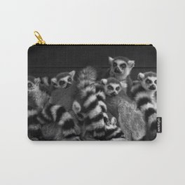 Gang Of Ring-Tailed Lemurs Carry-All Pouch