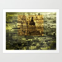 friday Art Prints featuring Friday by monic