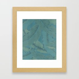 Faded Palms Pattern Framed Art Print