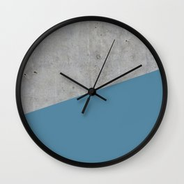 Concrete and Niagara Color Wall Clock