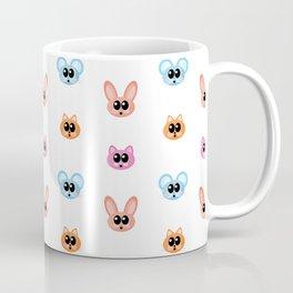 Cute Bunny Rabbit, Mouse and Cat Cartoon Pattern Coffee Mug