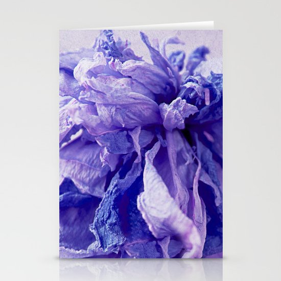 purple paeonie Stationery Cards