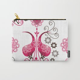 Odd pink Paisley background Carry-All Pouch