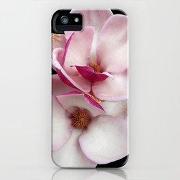 tulip magnolia twins (black bg) iPhone Case