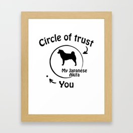 Circle of trust my Japanese Akita Framed Art Print