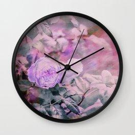 Romantic Rose Soft Pastel Colors Wall Clock