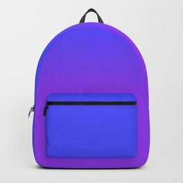 Neon Purple and Bright Neon Blue Ombré Shade Color Fade Backpack