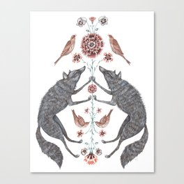 Wolves and Sparrows Canvas Print
