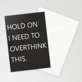 Hold On Typography Stationery Cards