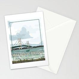 Mackinac Bridge Poster Stationery Cards