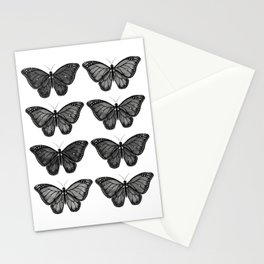 Monarch Butterfly - Black and White Stationery Cards