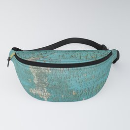 Rustic Wood with Bright Turquoise Paint Weathered Aged to perfection Fanny Pack