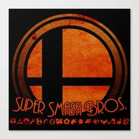 super smash bros Canvas Prints featuring Super Smash Bros.  by Donkey Inferno