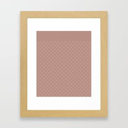 The color of cocoa . Monochrome pattern of hearts . Framed Art Print