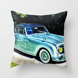 Vintage 1954 Nash Healey Lemans Sports Coupe Painting Throw Pillow